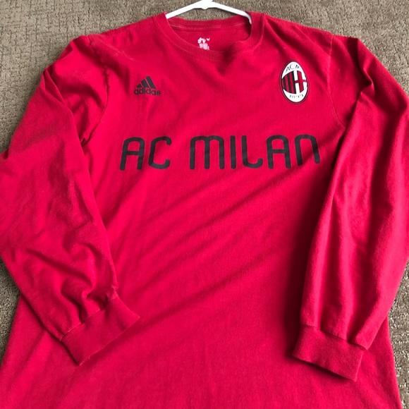 sports shoes 0cb62 51d87 Adidas AC Milan Long Sleeve Shirt